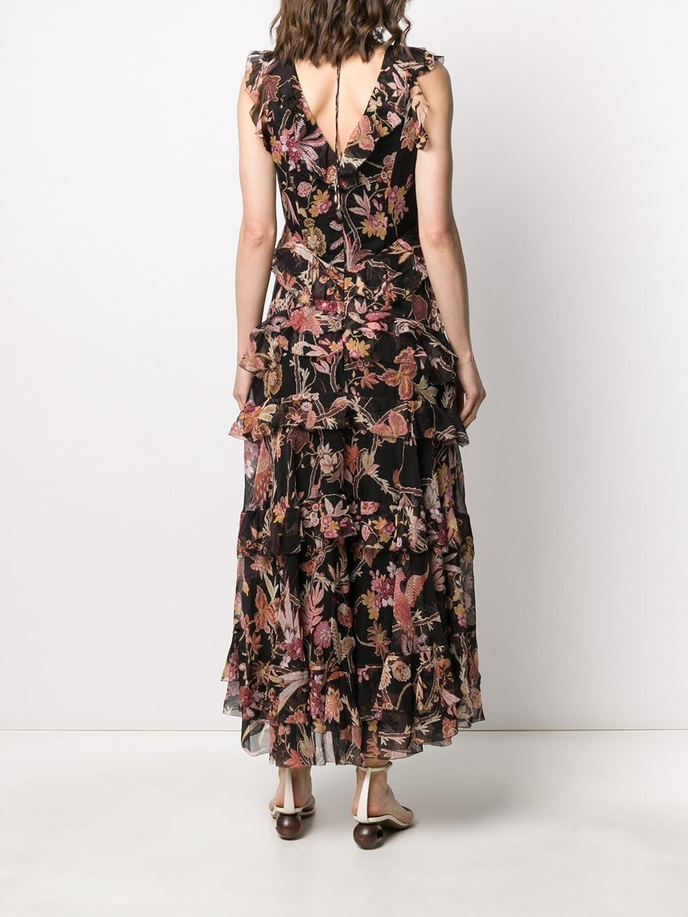 Zimmermann Wavelength Frilled Midi Dress We Select Dresses