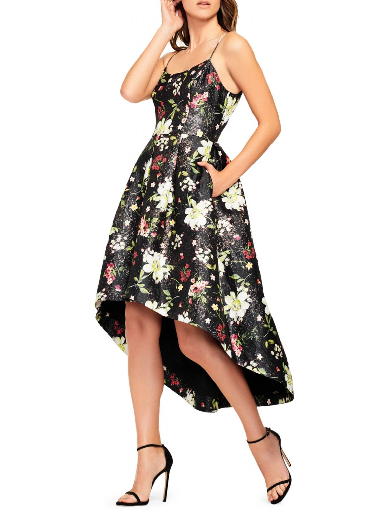 AIDAN BY AIDAN MATTOX Jacquard High-Low Dress