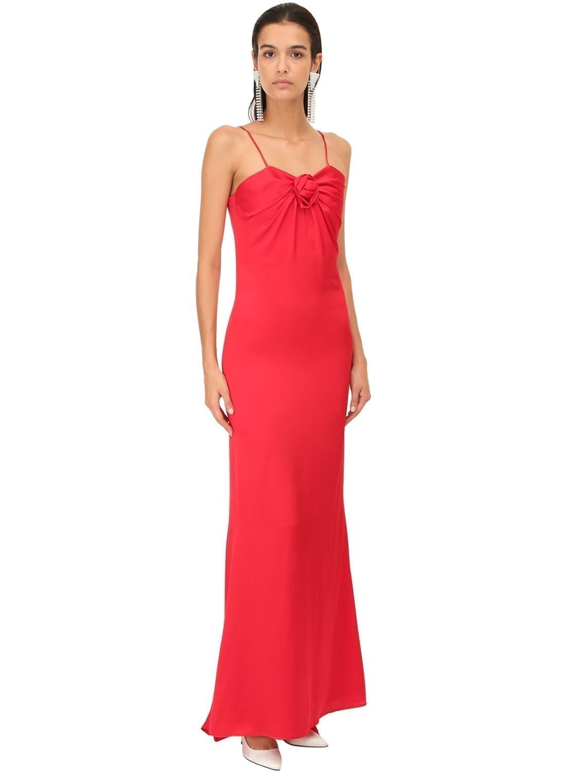 ALESSANDRA RICH Satin Long Dress