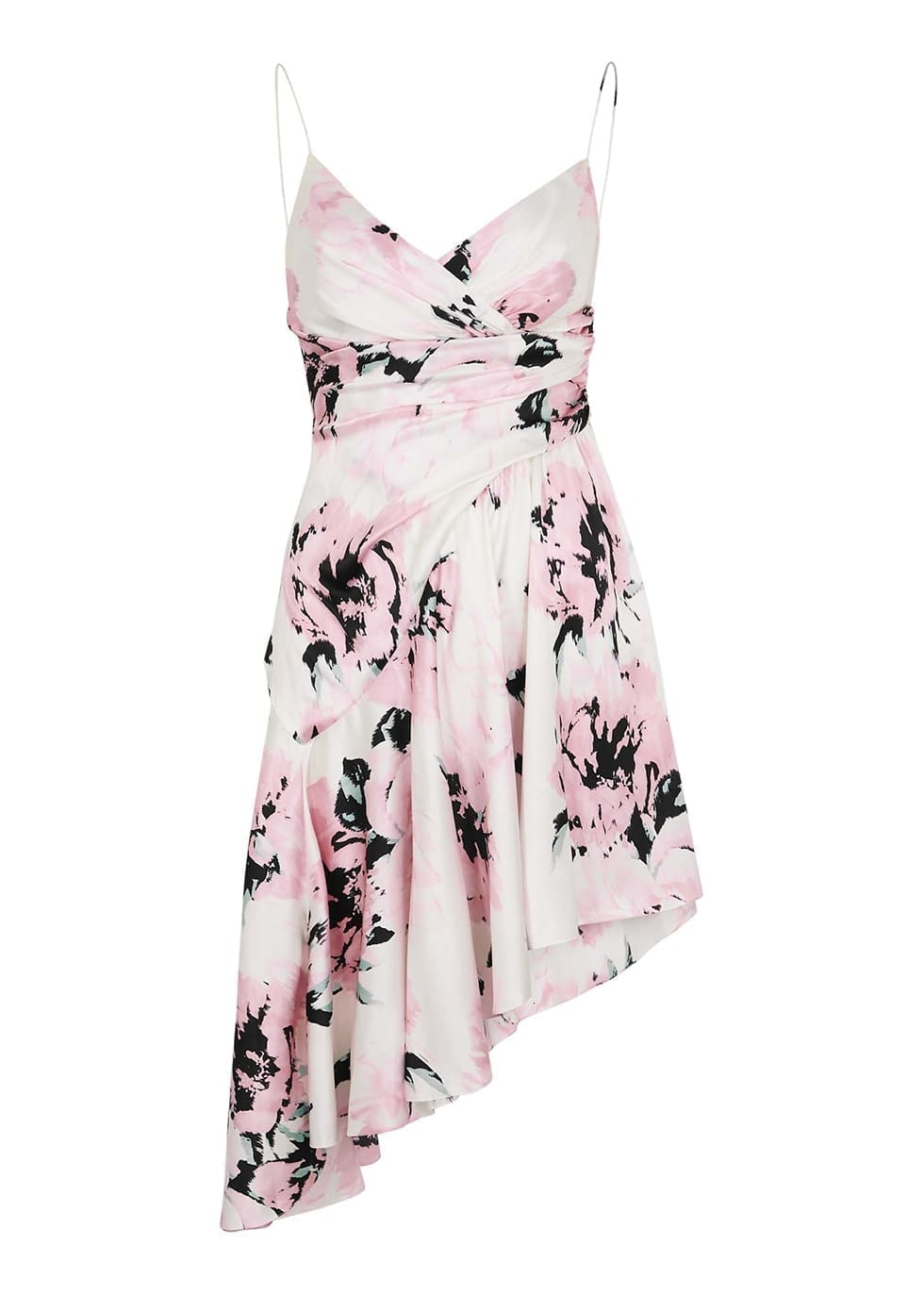 ALEXANDRE VAUTHIER Pink Floral-print Cotton Dress
