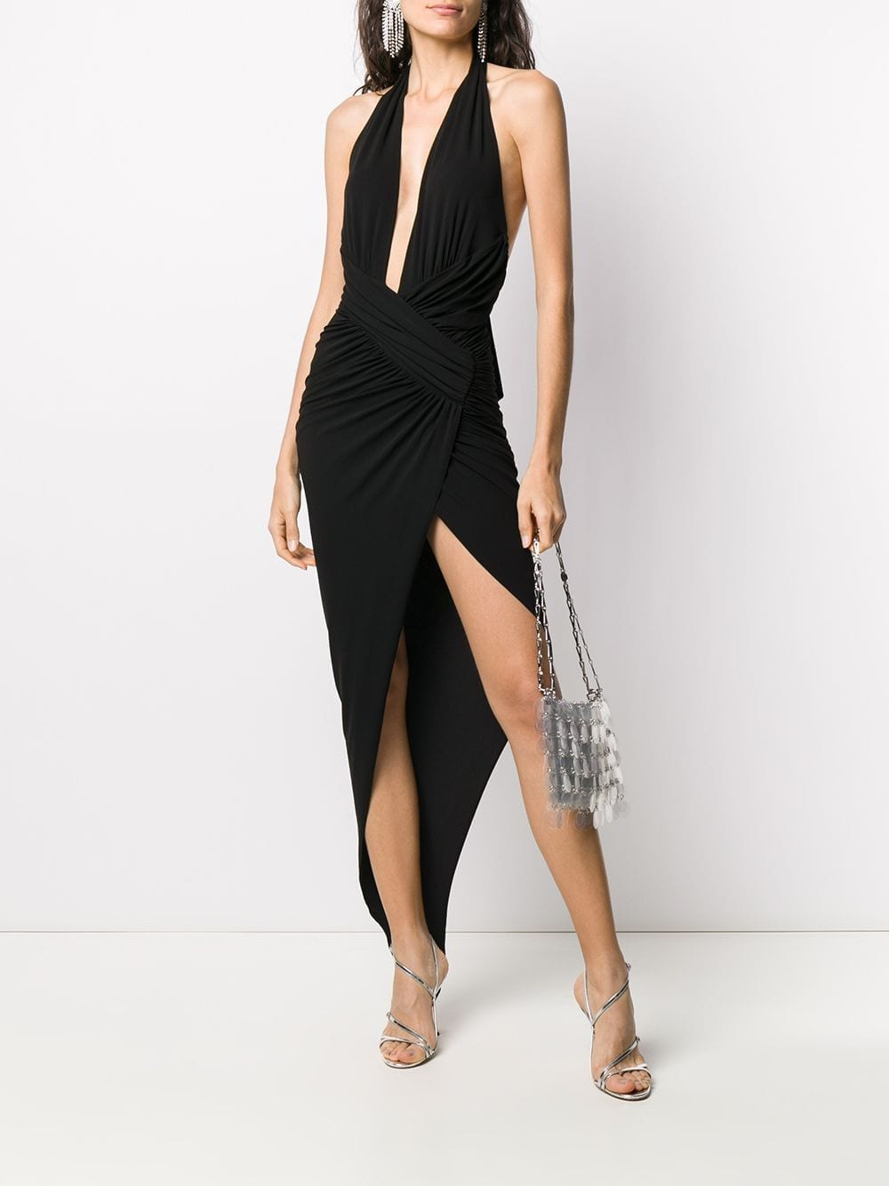 ALEXANDRE VAUTHIER Plunge Neck Wrap Waist Dress