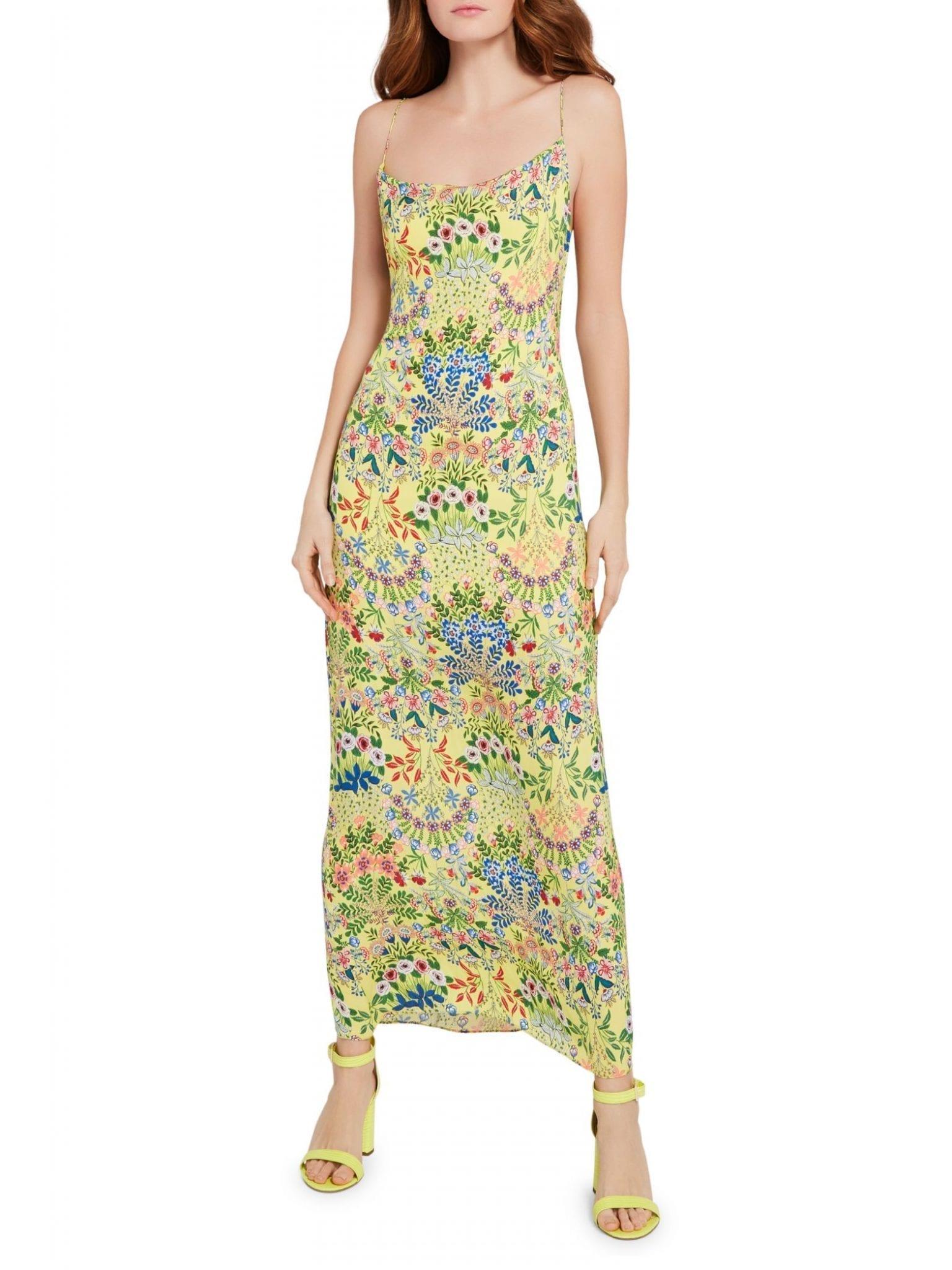 ALICE + OLIVIA Harmony Floral Slip Dress