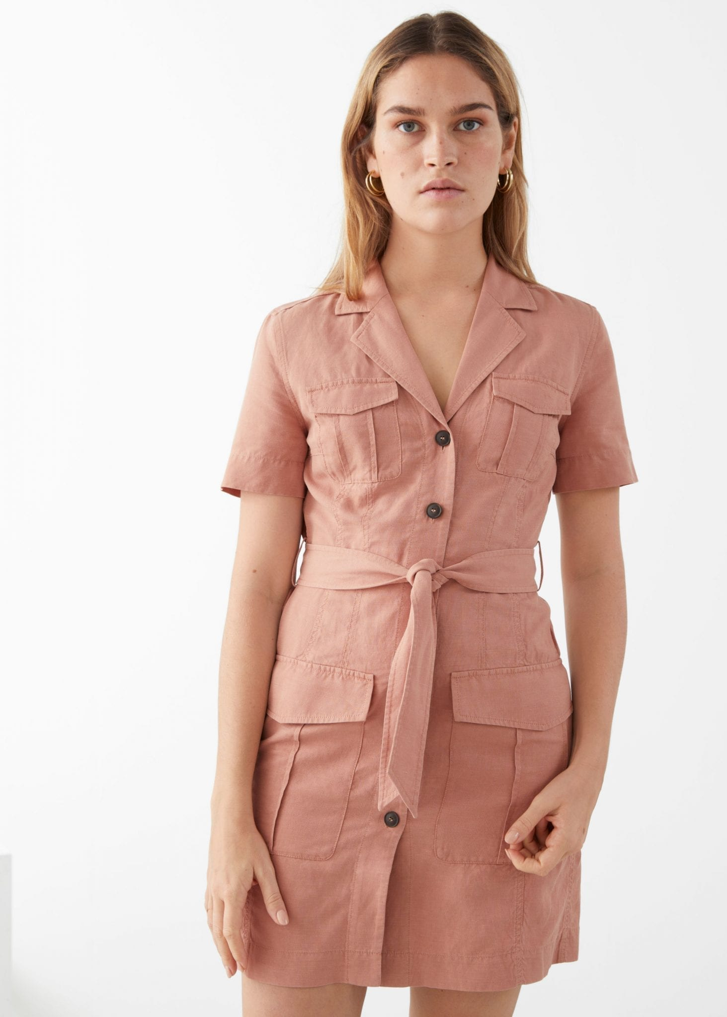 AND OTHER STORIES Belted Workwear Mini Dress