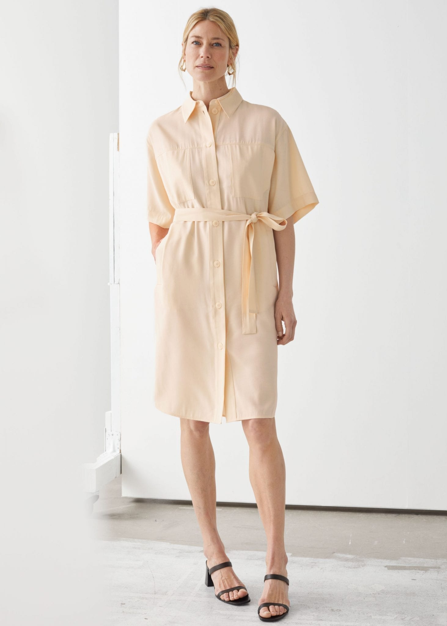 AND OTHER STORIES Oversized Midi Shirt Dress