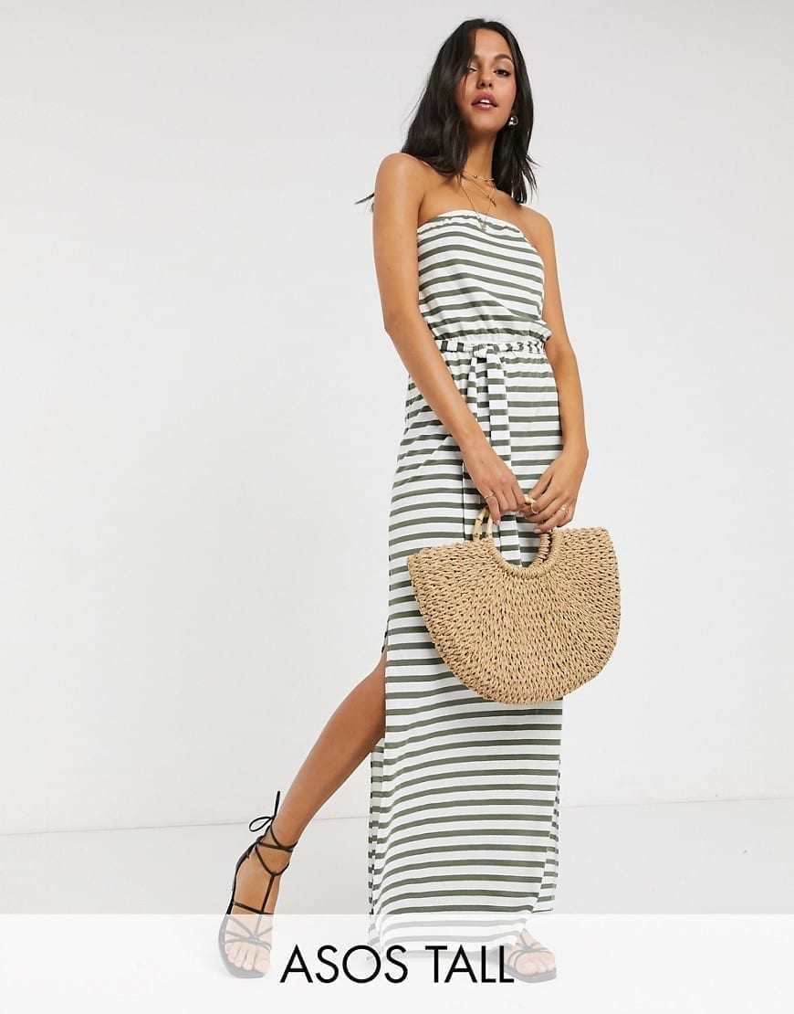 ASOS DESIGN Tall Bandeau Maxi Dress