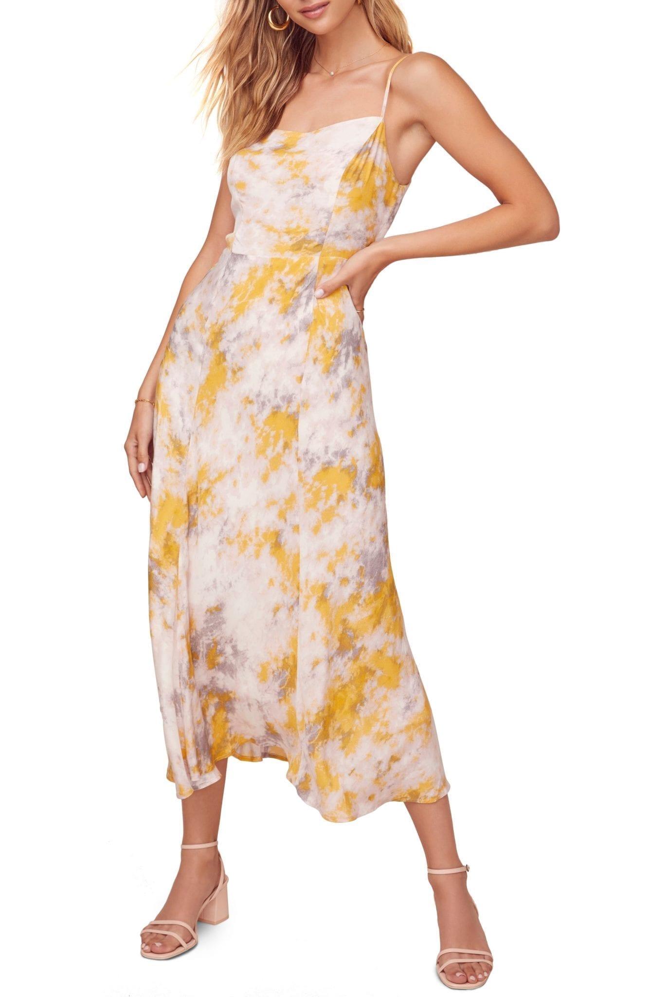 Astr The Label Elysian Floral Printed Midi Dress We