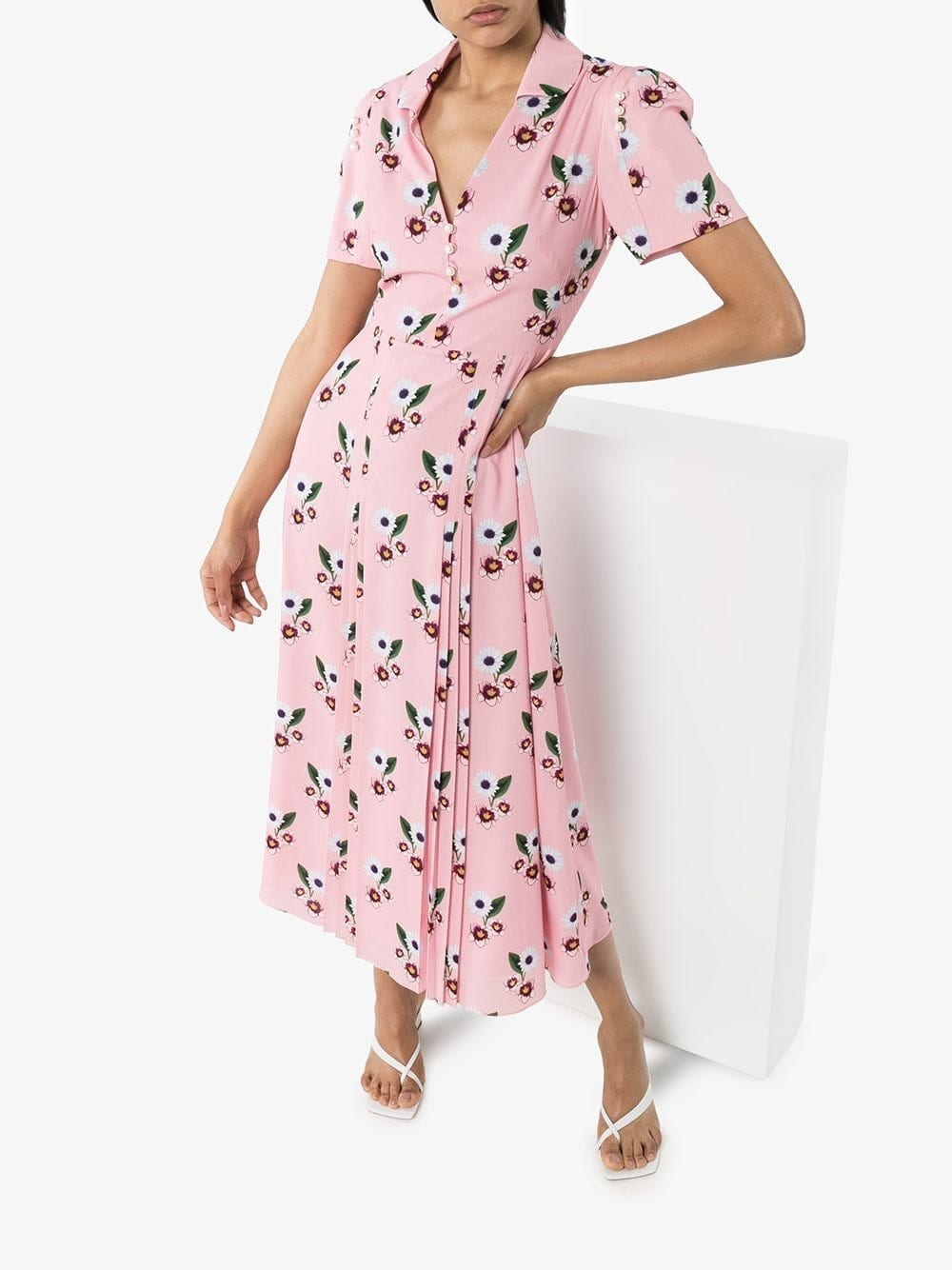 BORGO DE NOR Adelaide Floral Print Midi Dress