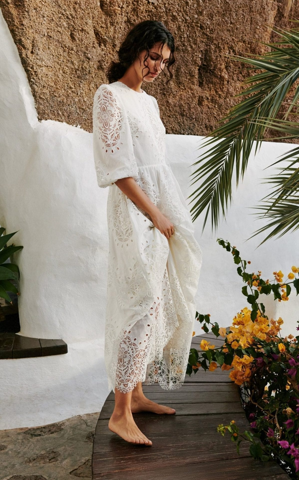 BORGO DE NOR Constance Lace Maxi Dress