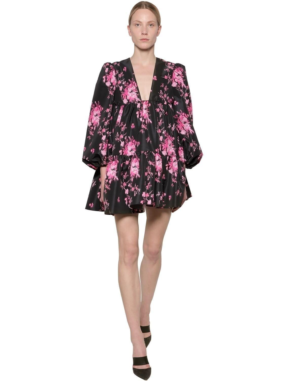 BROGNANO Floral Print Nylon Mini Dress