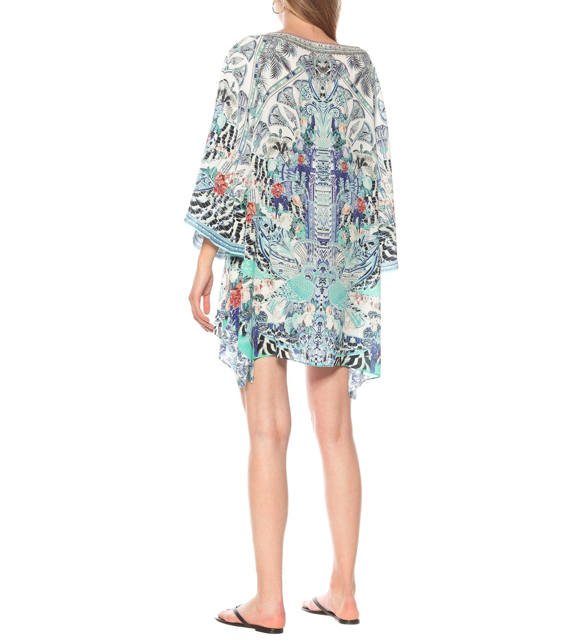 CAMILLA Embellished Printed Silk Kaftan Dress