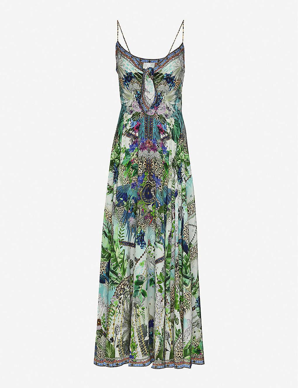 CAMILLA Moon Garden Printed Silk Midi Dress