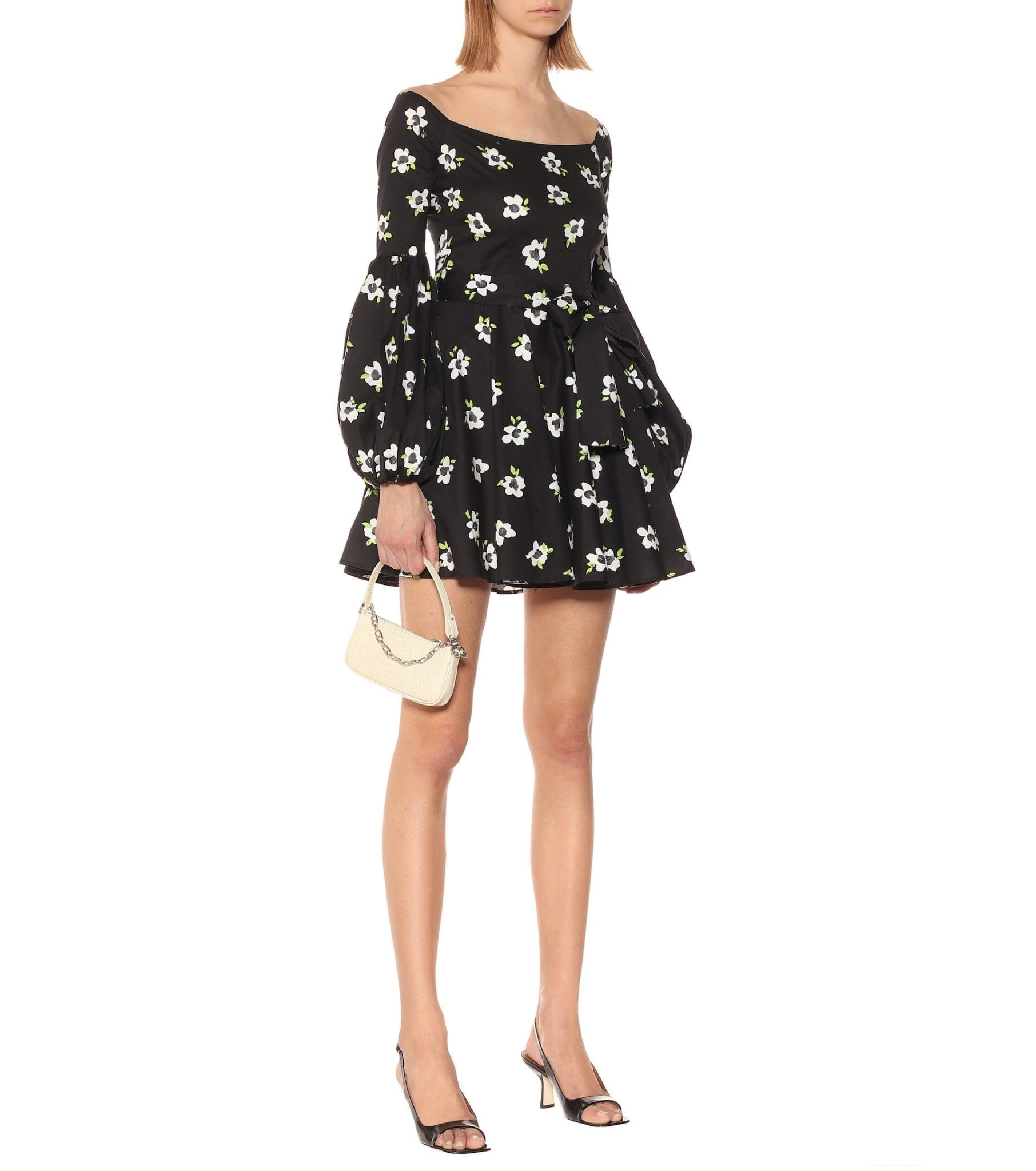 CAROLINE CONSTAS Gisele Floral Cotton Mini Dress
