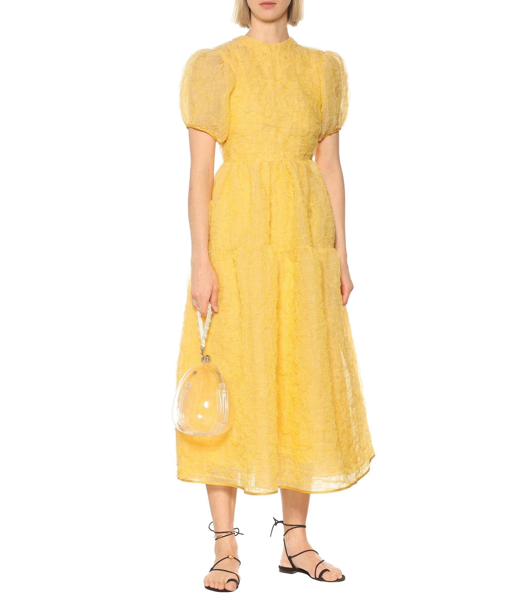 CECILIE BAHNSEN Kelly Silk-blend Midi Dress