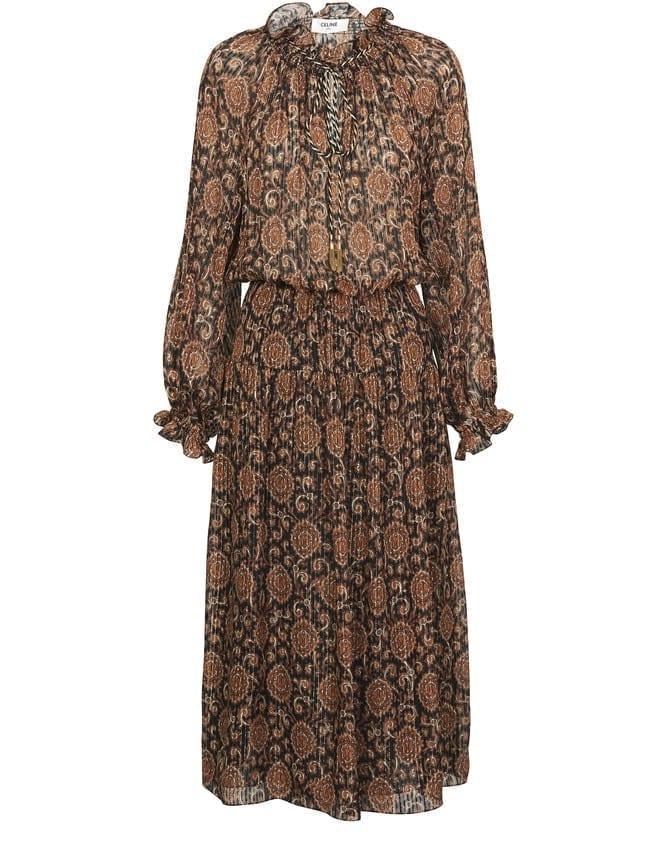 CELINE Folk Midi Dress