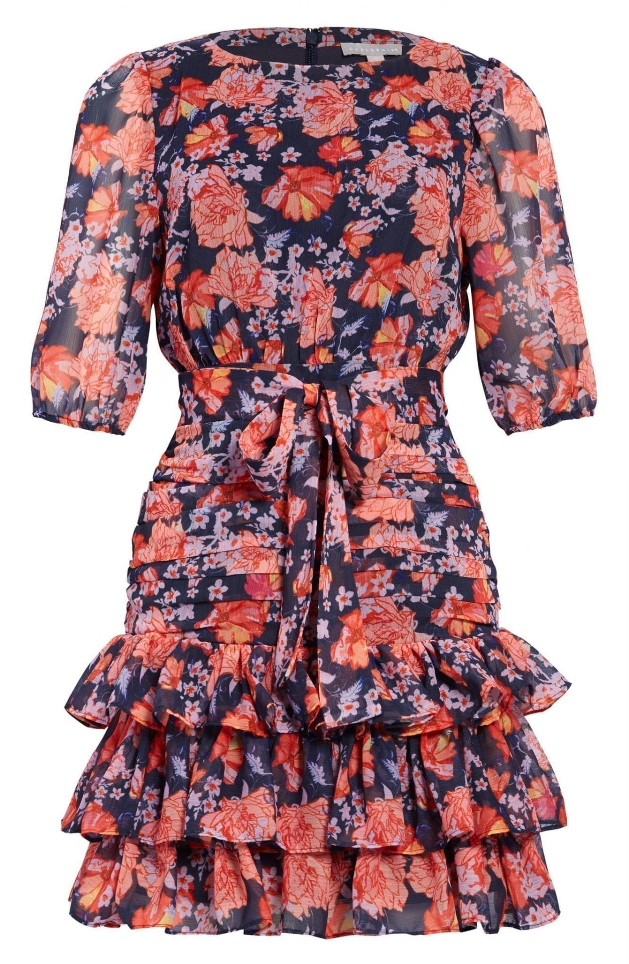 CHELSEA28 Floral Print Tiered Ruffle Dress