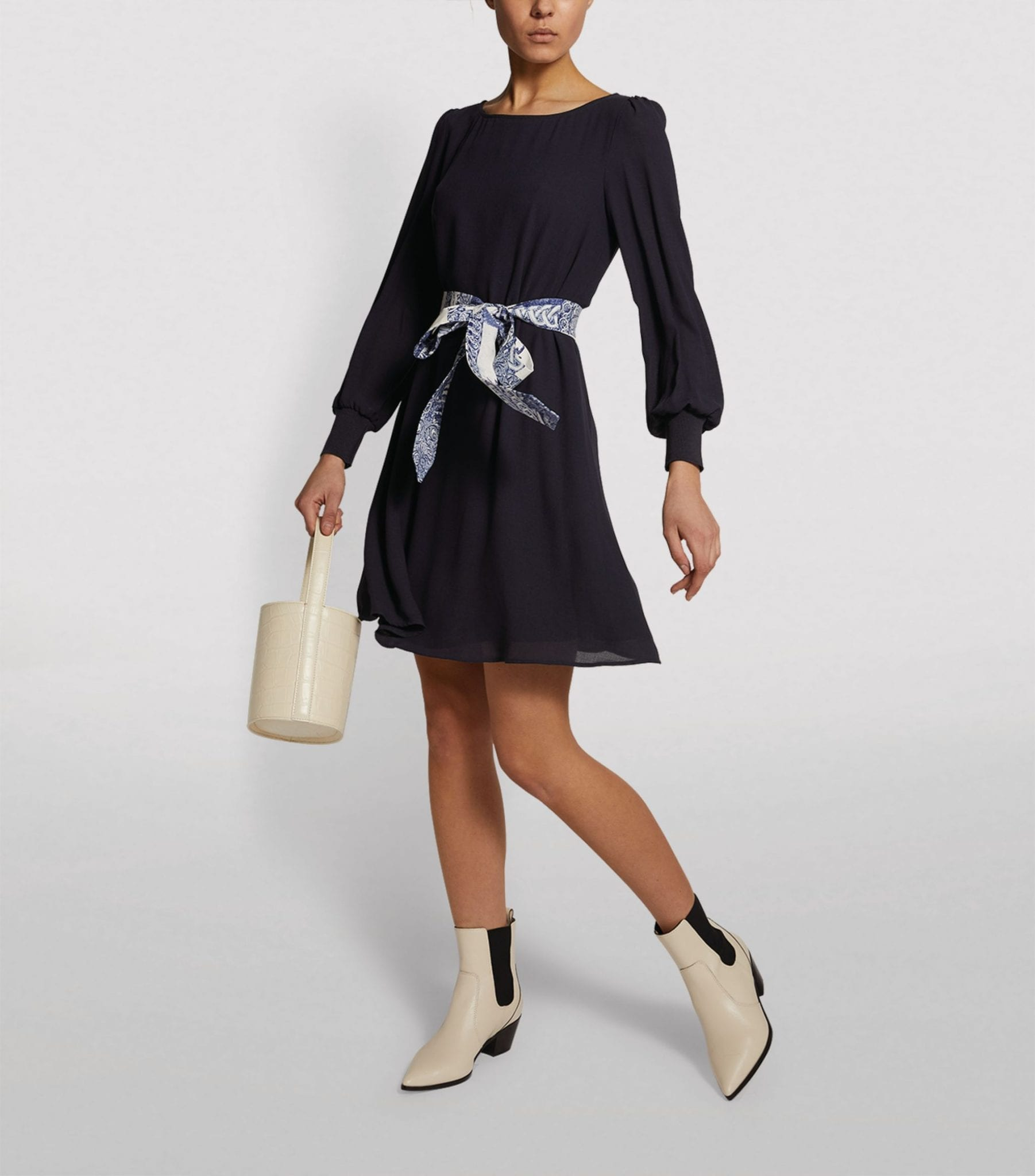 CLAUDIE PIERLOT Ribbon-Belt Dress