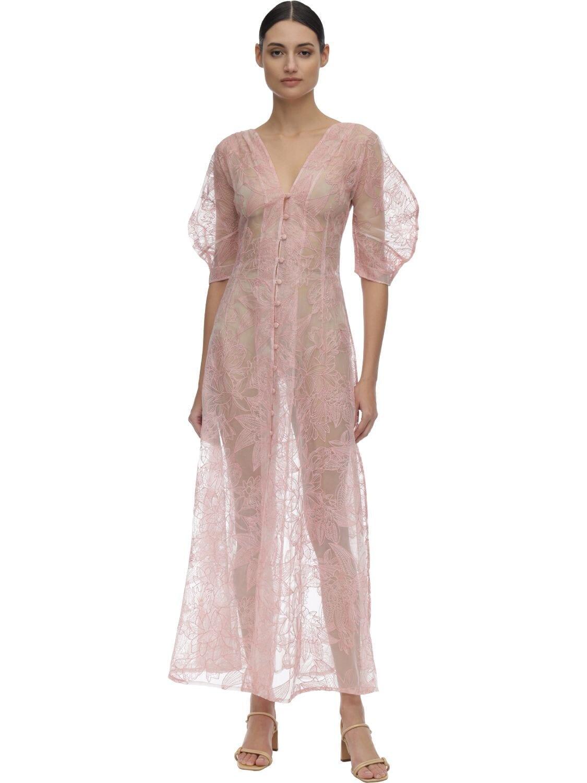 CULT GAIA Organza Midi Dress