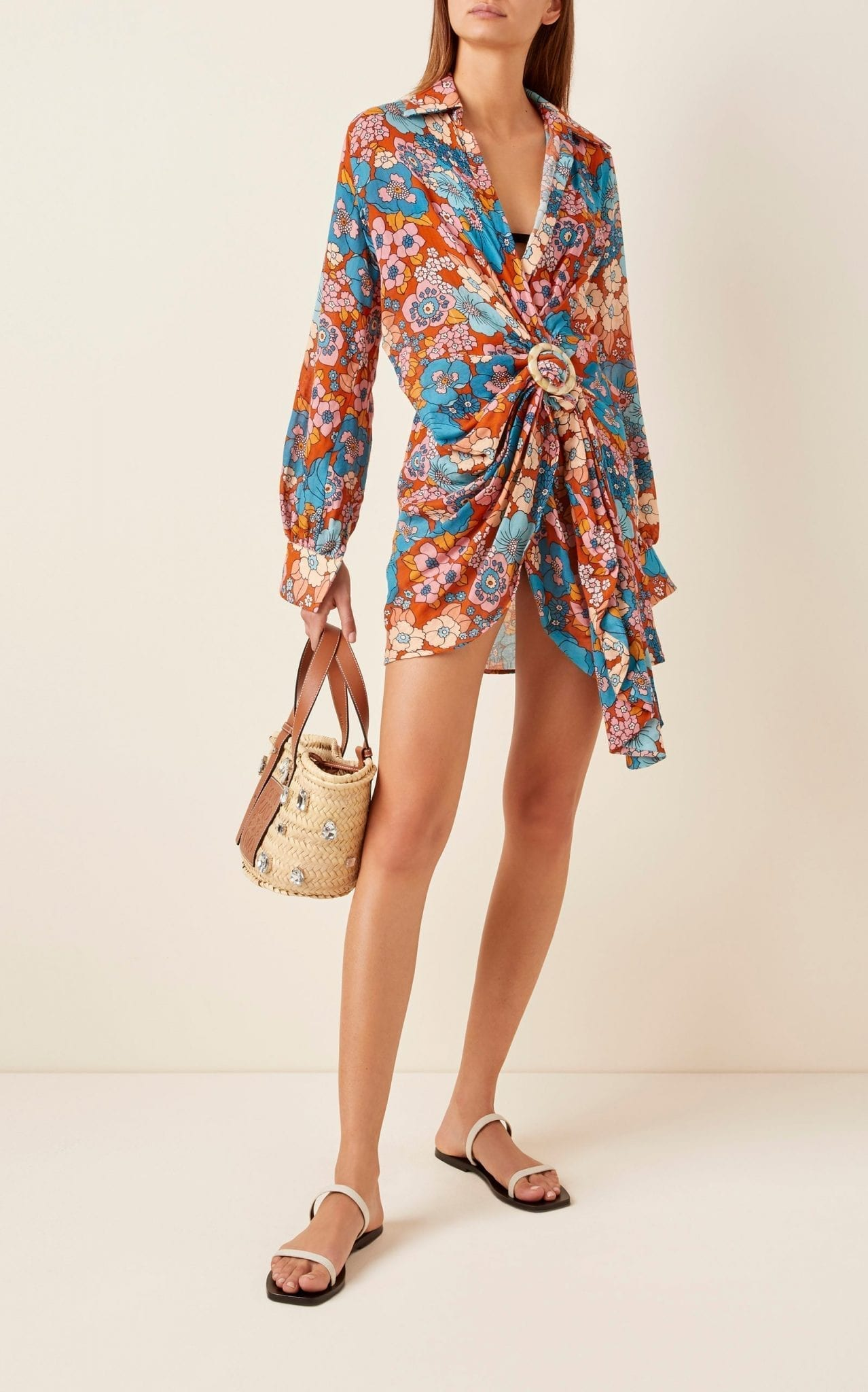 DODO BAR OR Lora Floral-Print Cotton-Voile Mini Dress