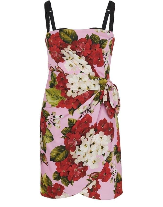 DOLCE & GABBANA Short Flowers Dress