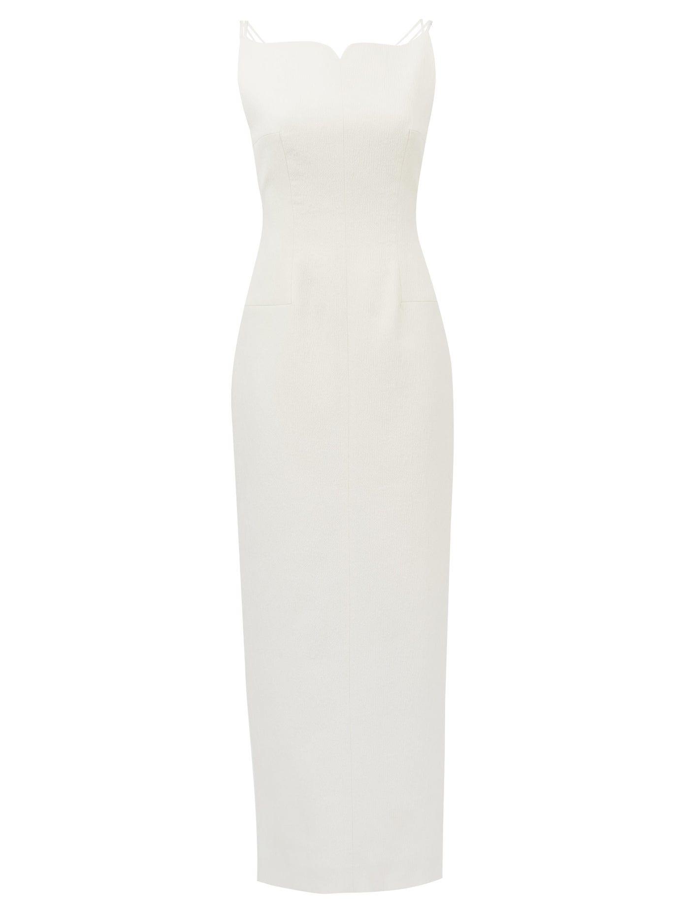 EMILIA WICKSTEAD Briony Sweetheart-neck Cloqué Maxi Dress