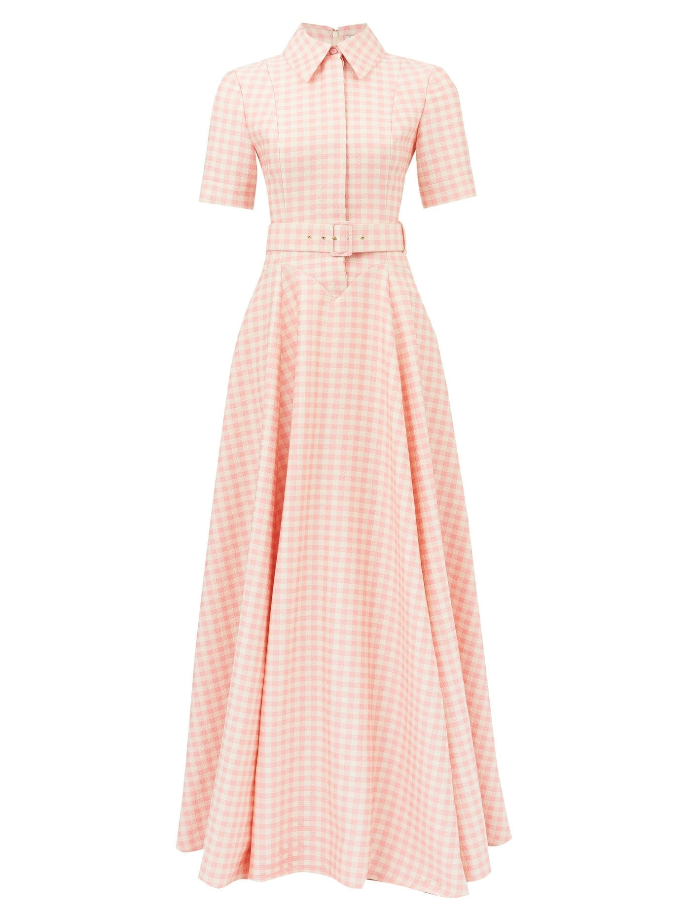 EMILIA WICKSTEAD Josie Belted Gingham Shirt Dress