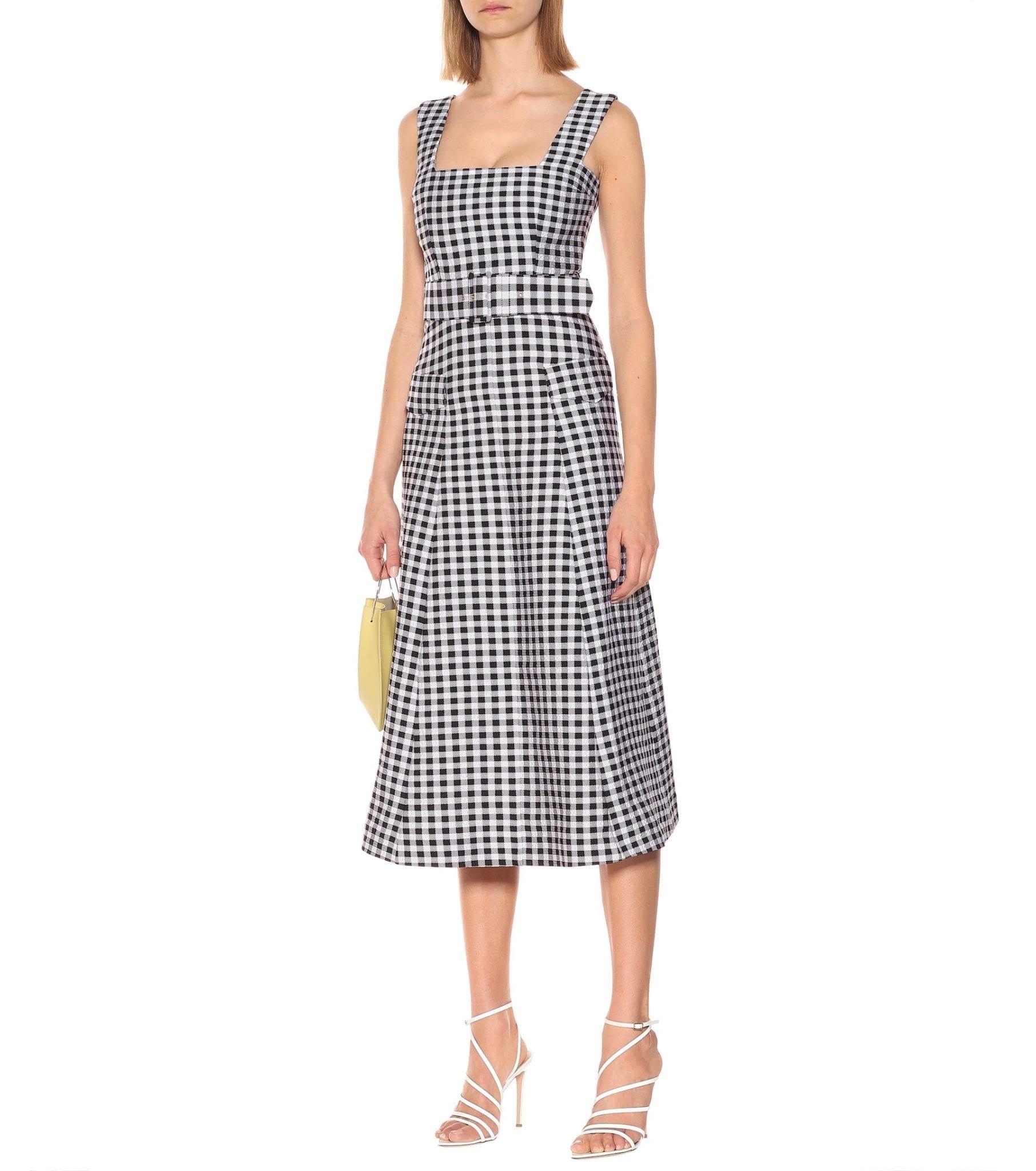 EMILIA WICKSTEAD Petra Gingham Cloqué Midi Dress