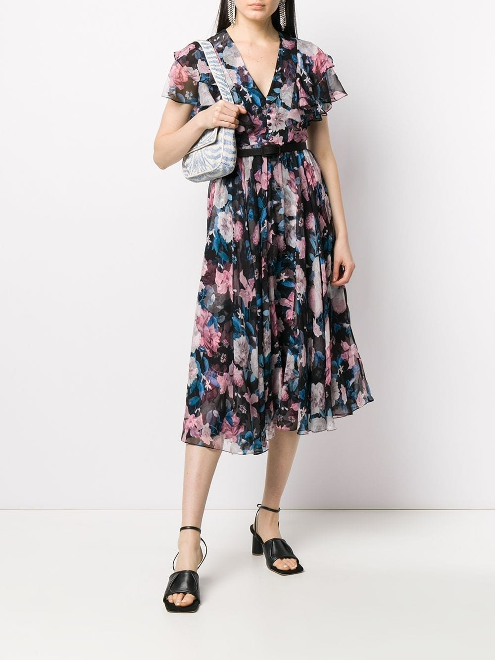ERDEM Floral Print Flared Dress