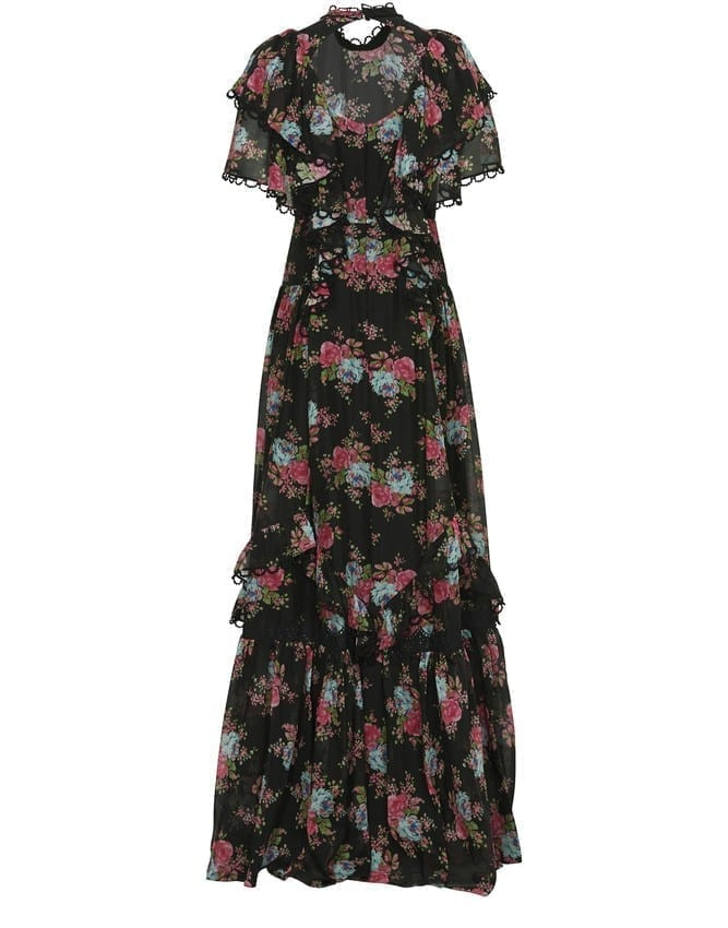 ERDEM Mauricia Cotton And Silk Long Dress