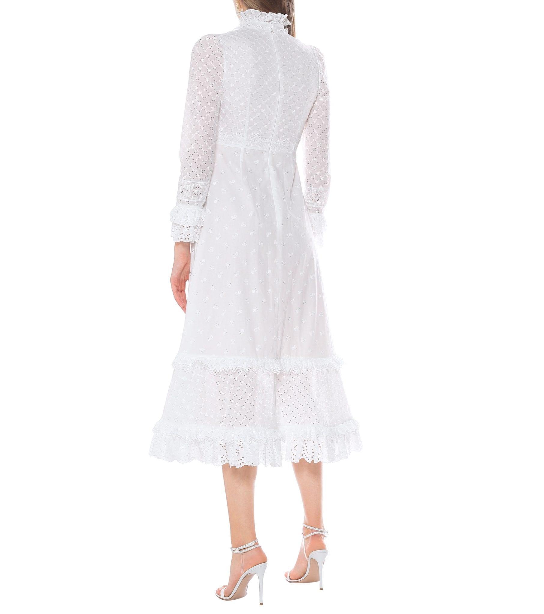 ERDEM Miguella Broderie-anglaise Cotton Dress