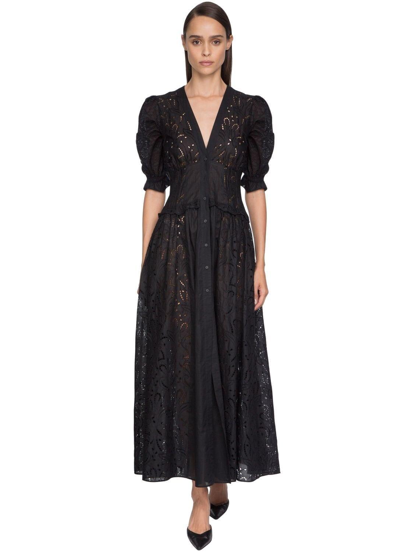 ERMANNO SCERVINO Belted Eyelet Lace Shirt Dress