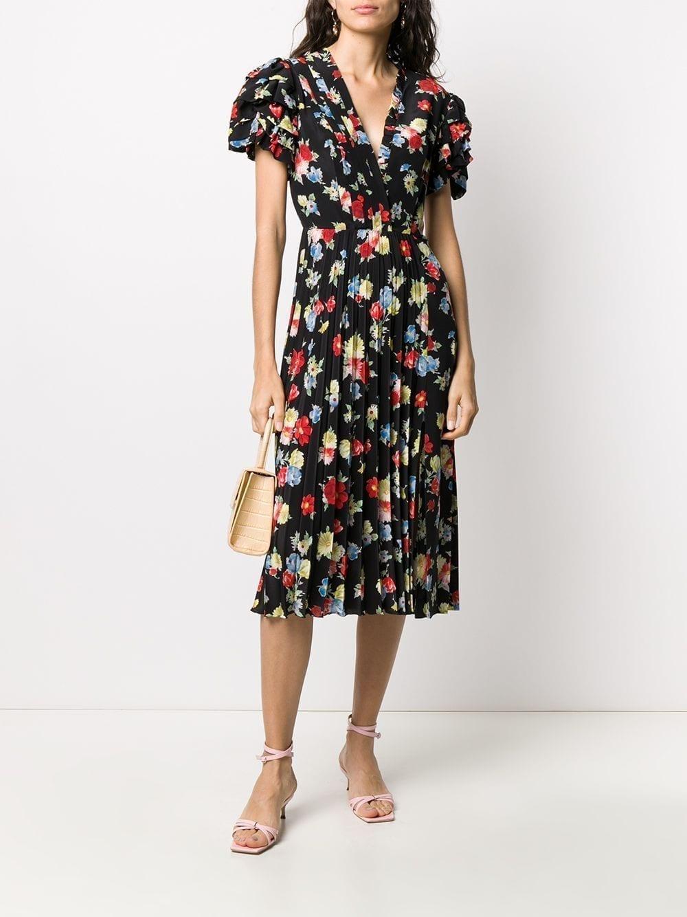 ERMANNO SCERVINO Silk Floral Midi Dress