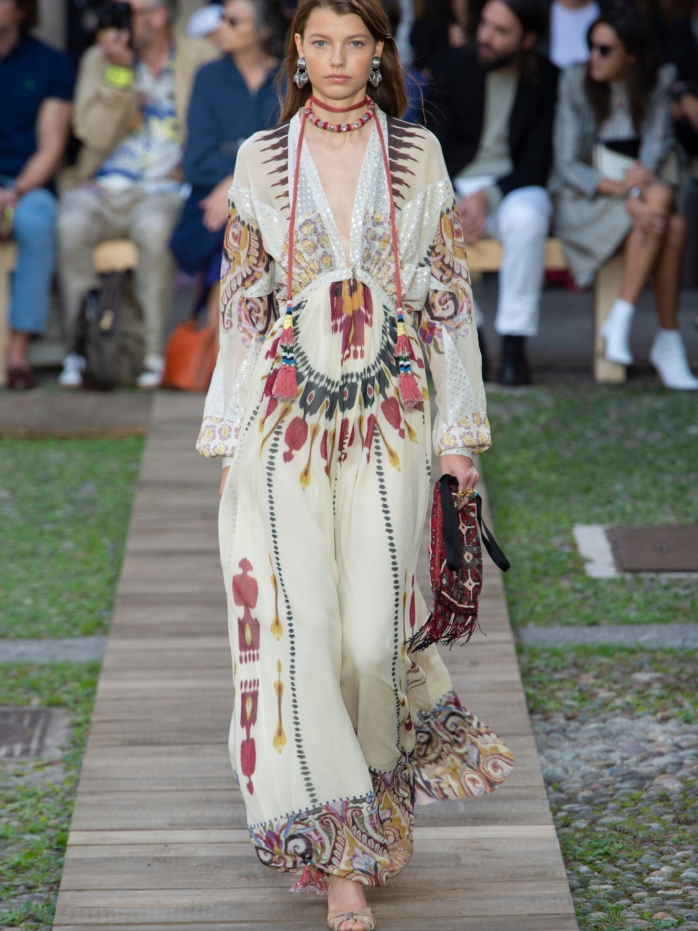 ETRO Queen Of 1964 Ikat-print Silk-georgette Gown