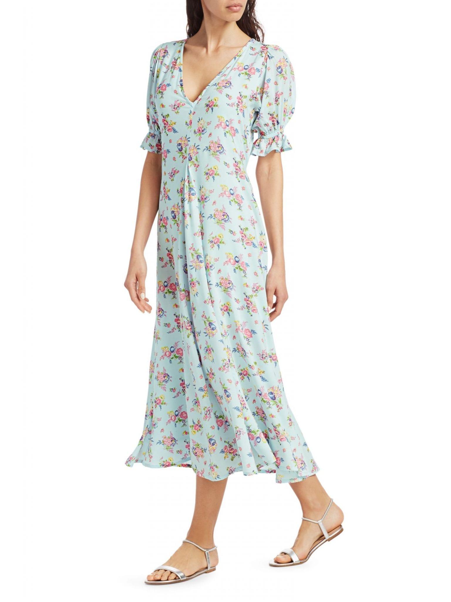 FAITHFULL THE BRAND Maggie Floral Midi Dress