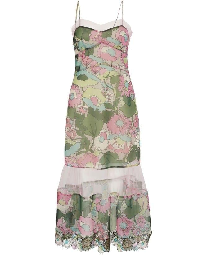 FENDI Abito Windflowers Midi Dress