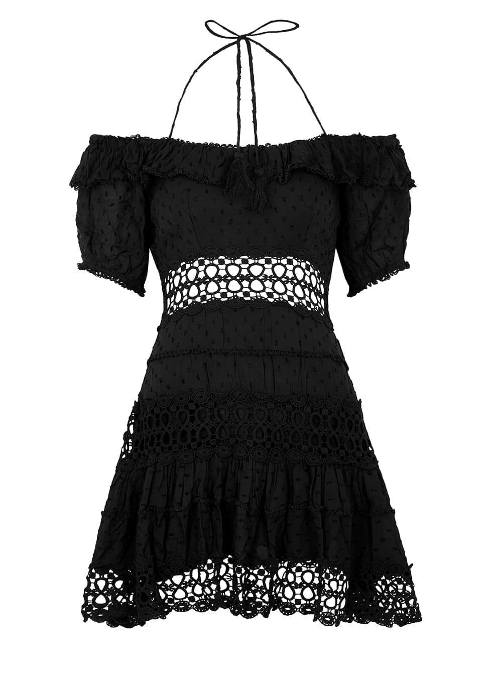 FREE PEOPLE Cruel Intentions Black Mini Dress