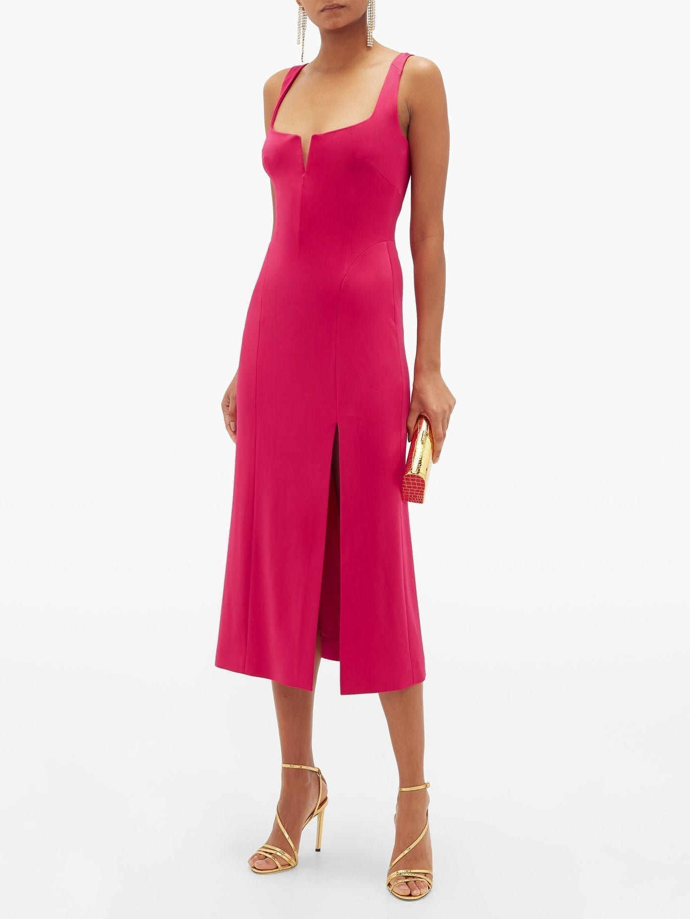 GALVAN Structured-bodice Jersey Dress