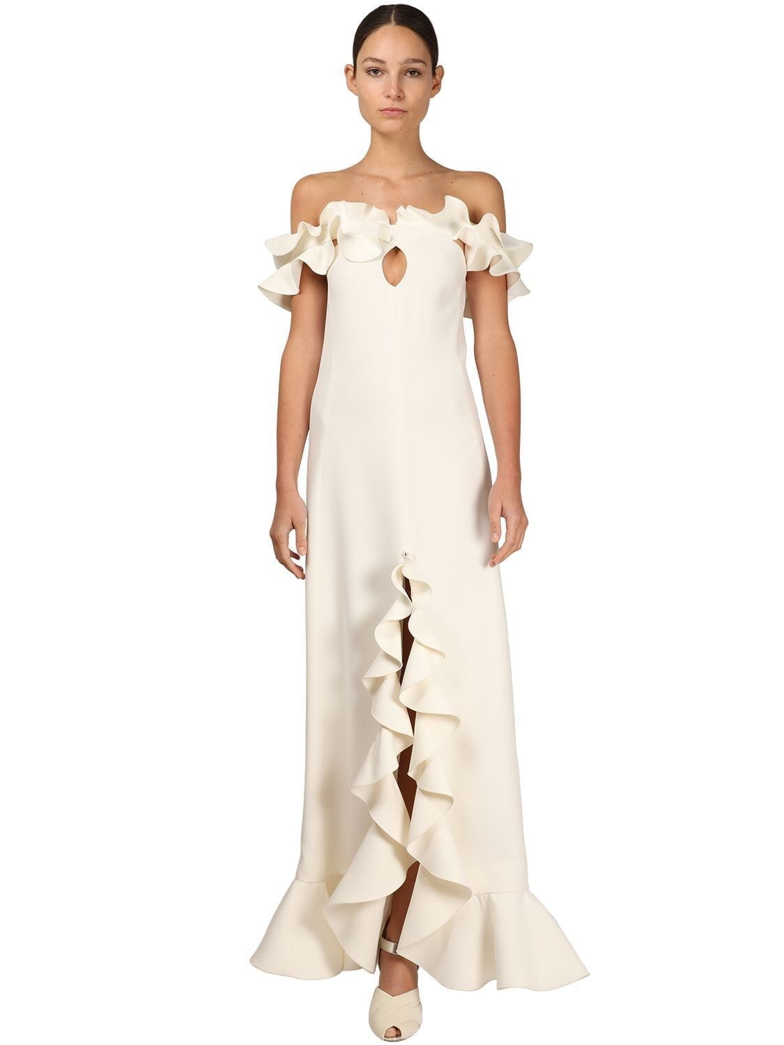 GIAMBATTISTA VALLI Off-the-shoulder Ruffled Dress