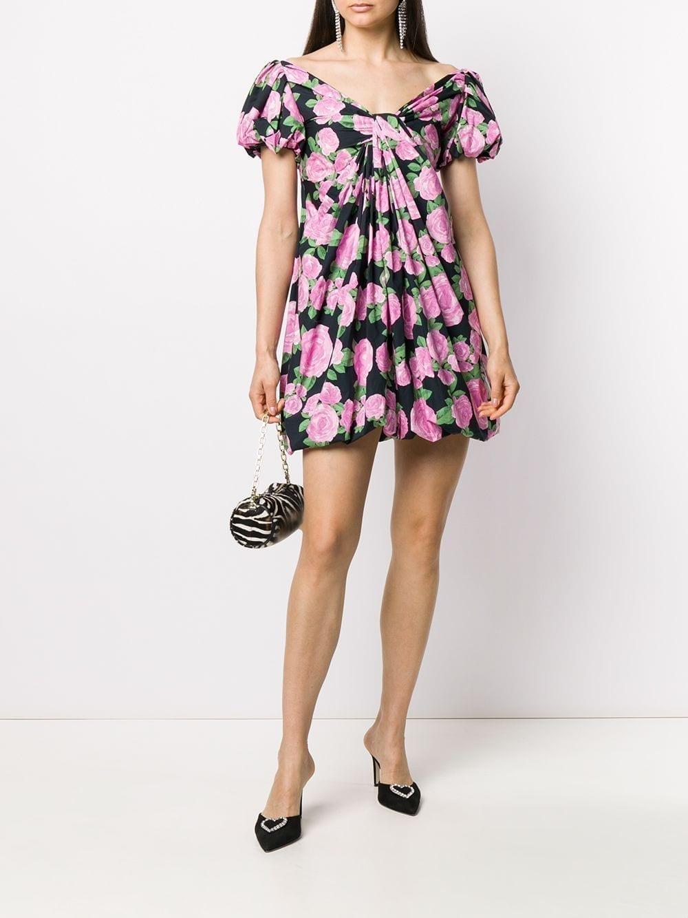 GIUSEPPE DI MORABITO Flared Rose-Print Dress