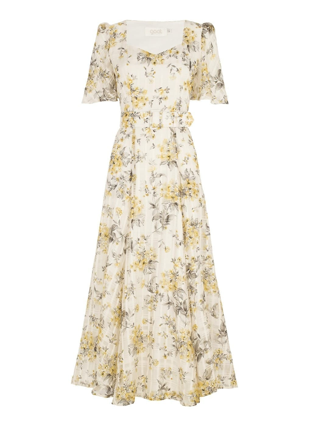 GOAT FASHION Flower Check Julip Midi Dress