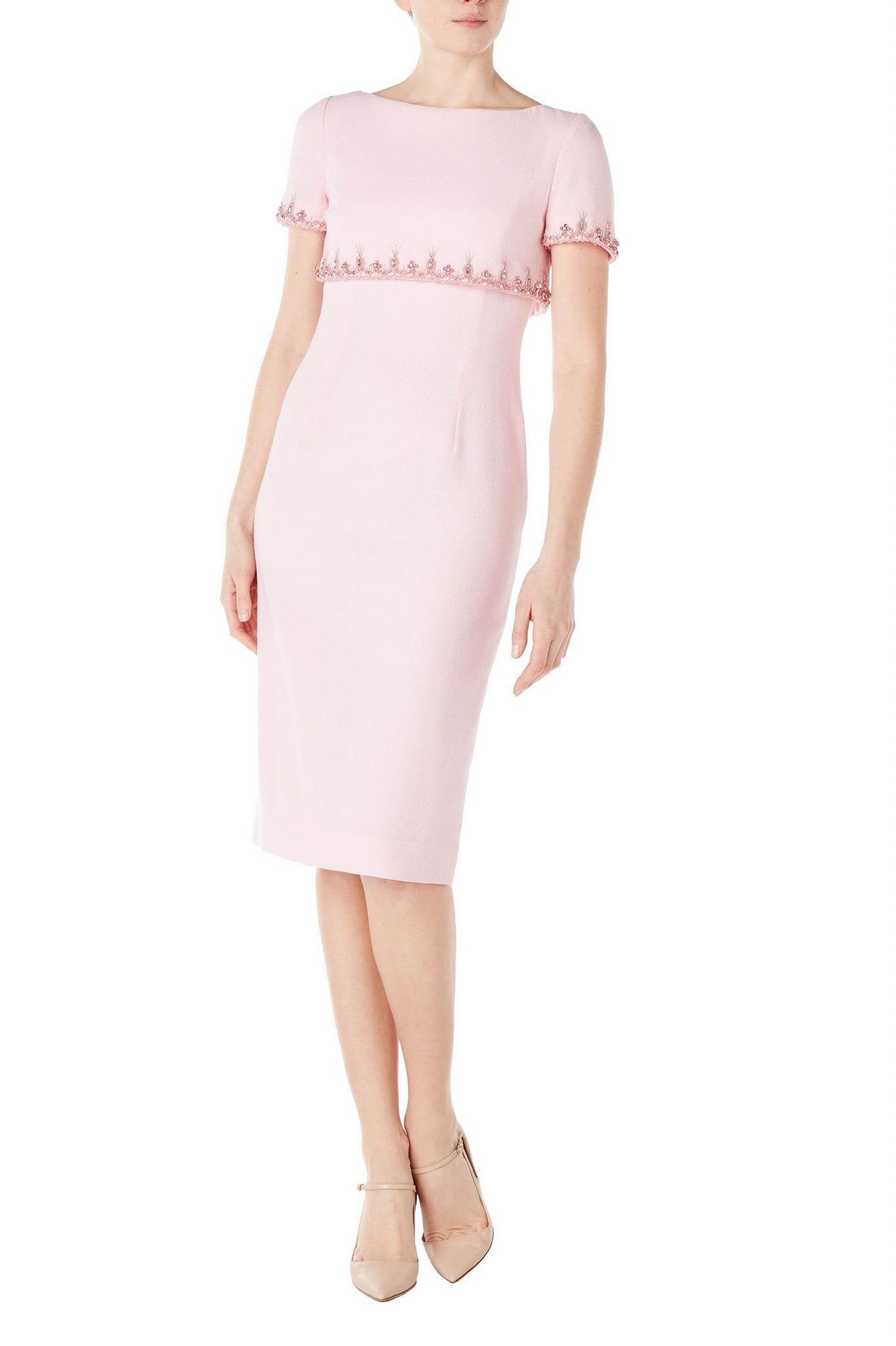 GOAT FASHION Jacqueline Beaded Cape Pencil Dress