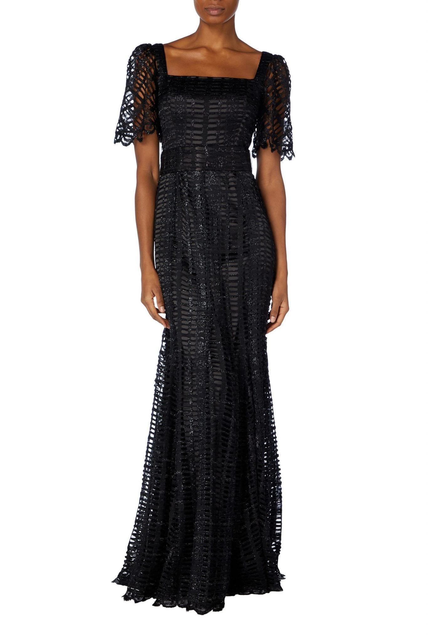 GOAT FASHION Jolene Ladder Lace Gown