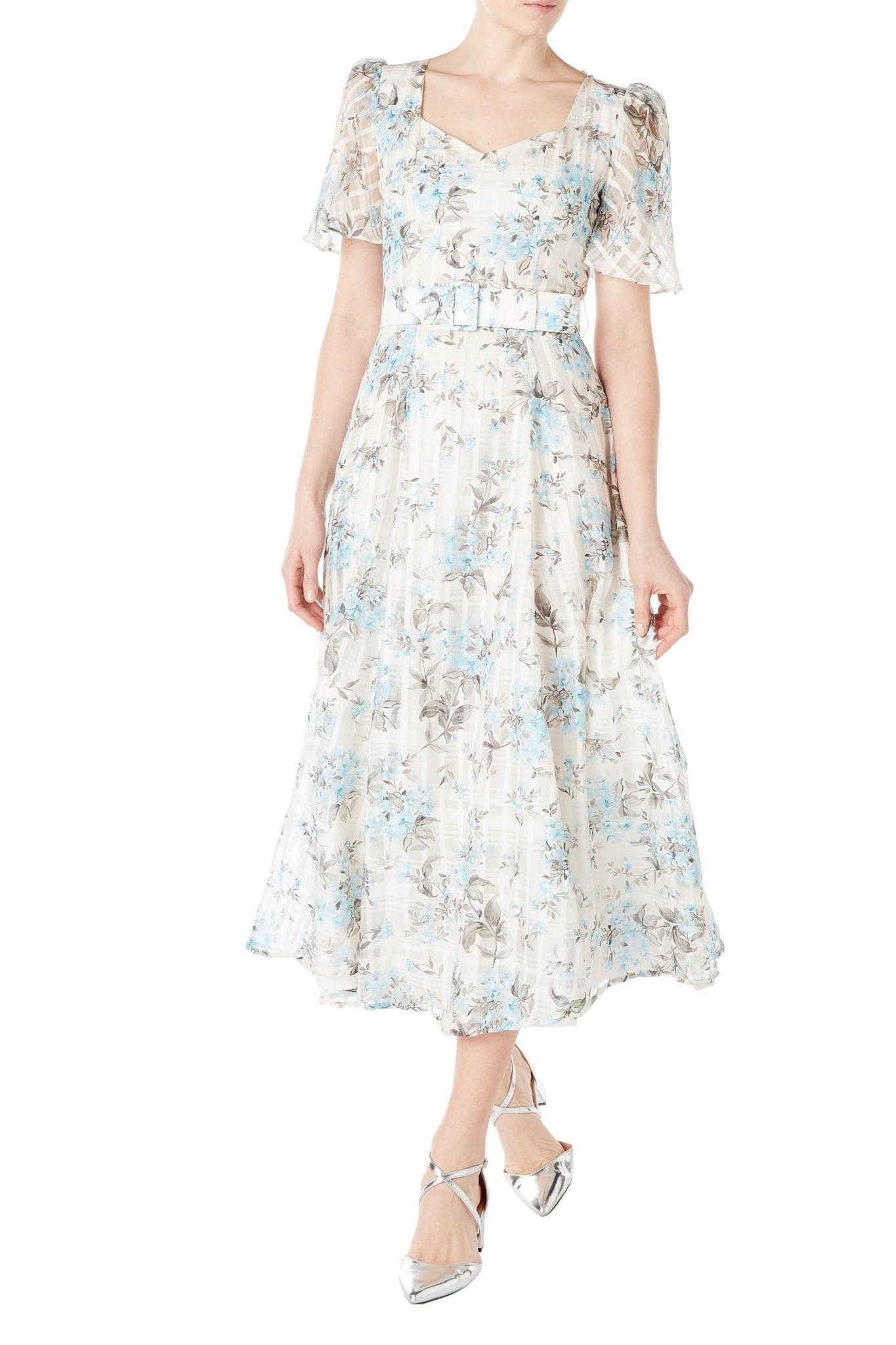 GOAT FASHION Julip Flower Check Midi Dress