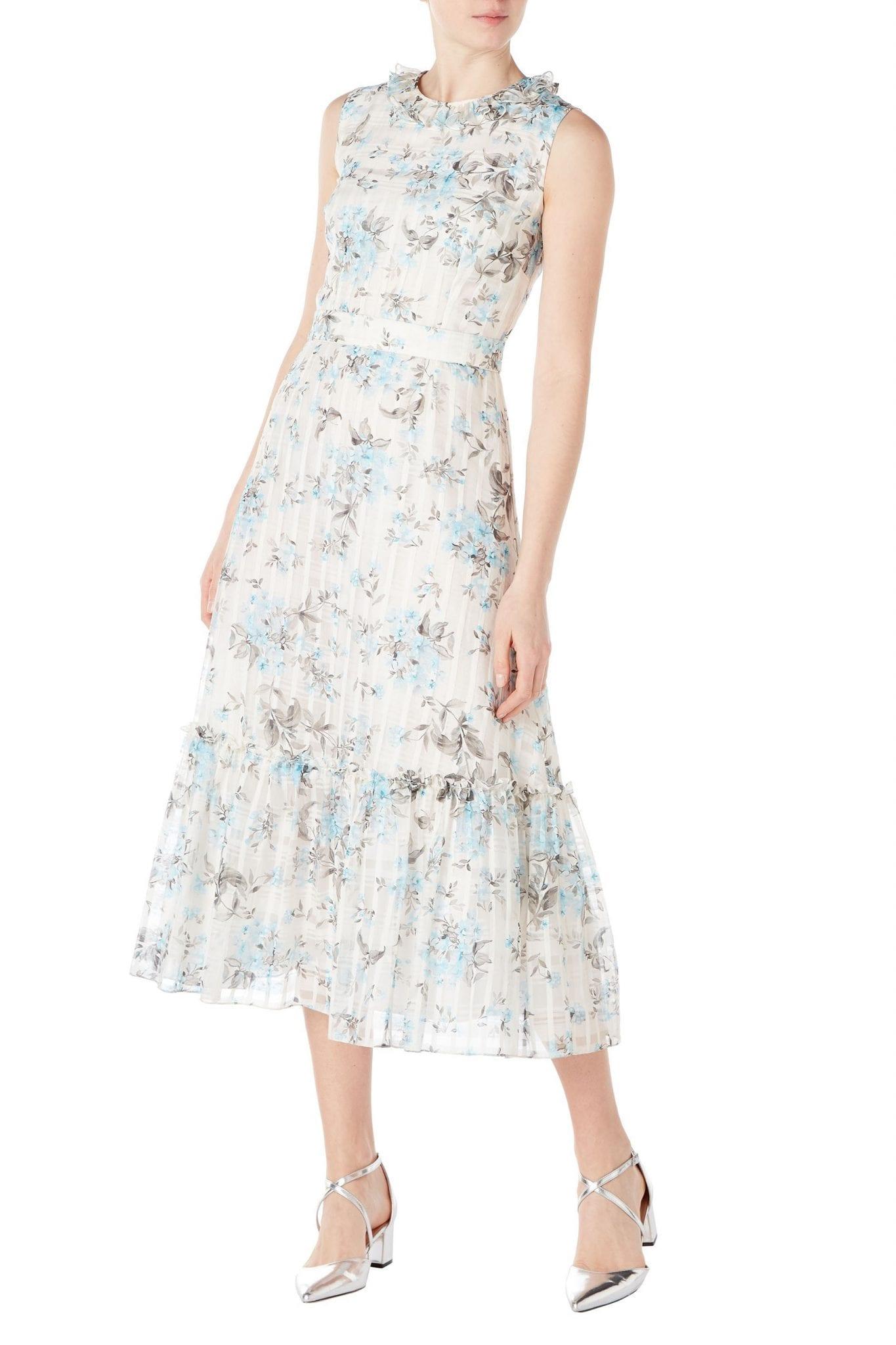 GOAT FASHION July Flower Check Dress
