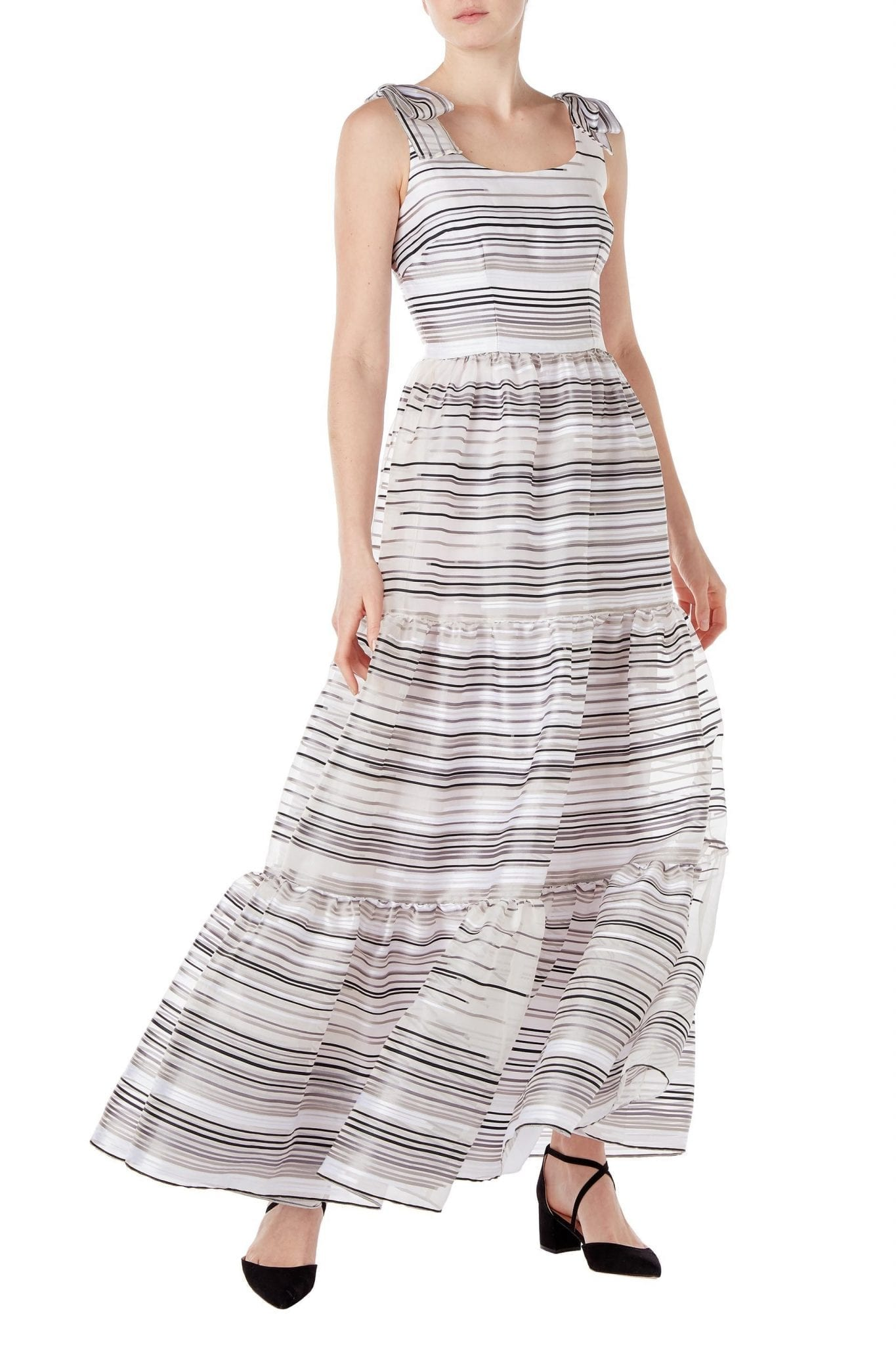 GOAT FASHION Jupiter Organza Stripe Gown