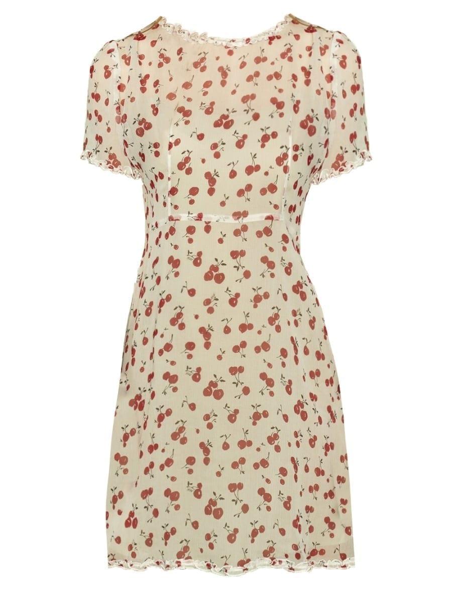 HVN Natalie Ruffled Mini Dress
