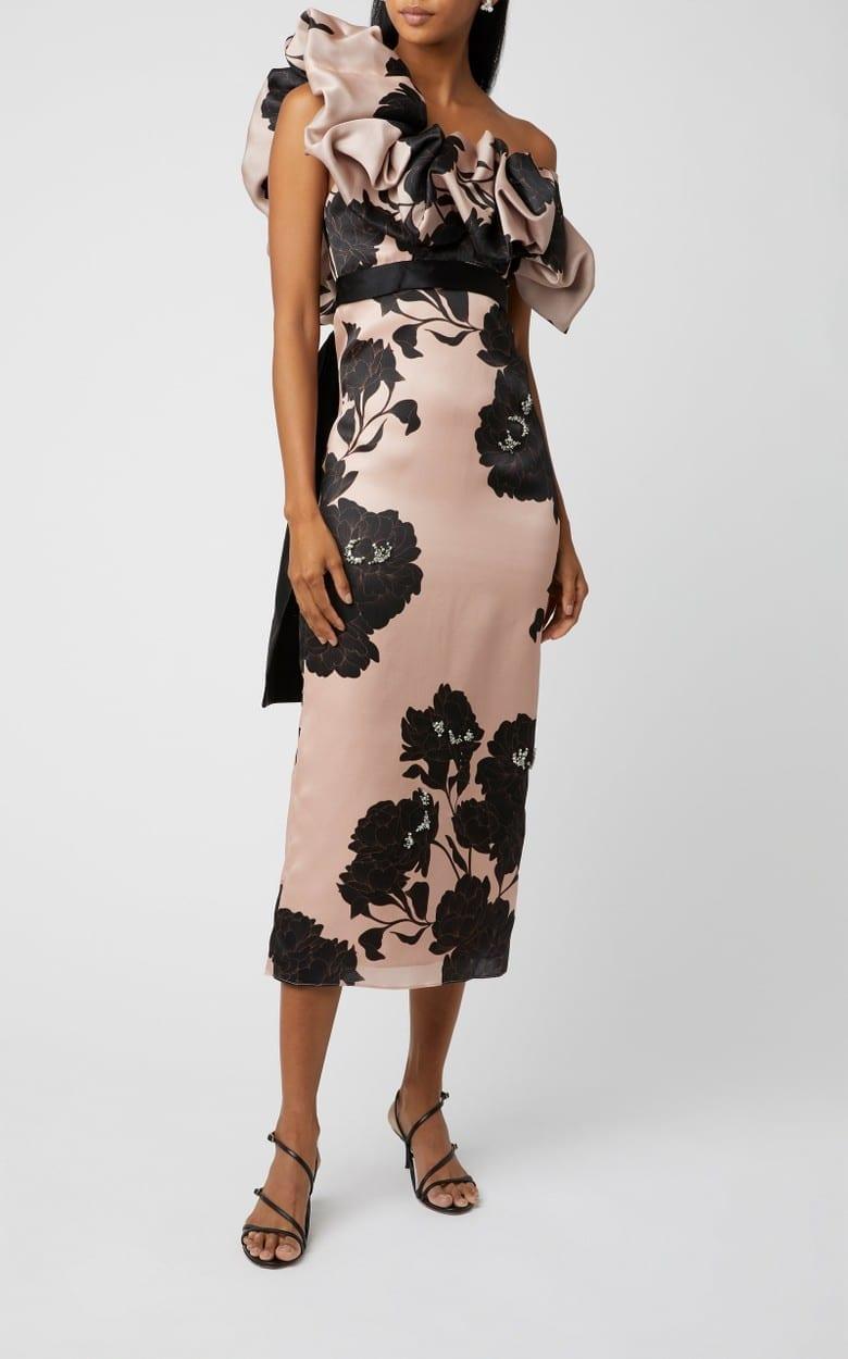 JOHANNA ORTIZ Exclusive Prodigious Silk Floral Dress