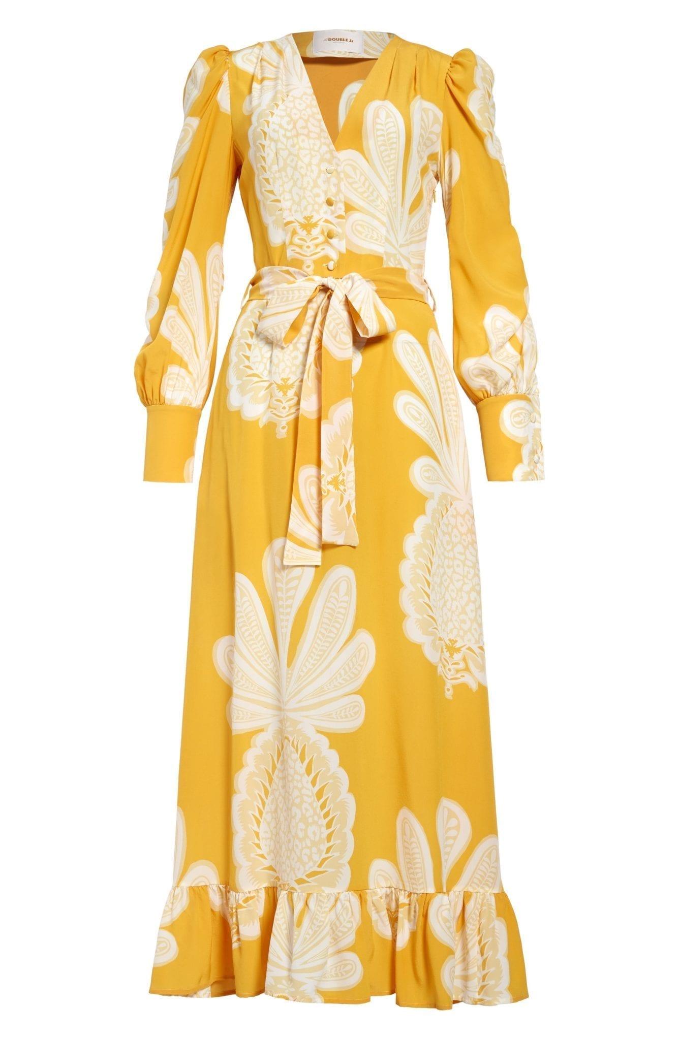 LA DOUBLEJ Super Smokin' Hot Long Sleeve Silk Dress