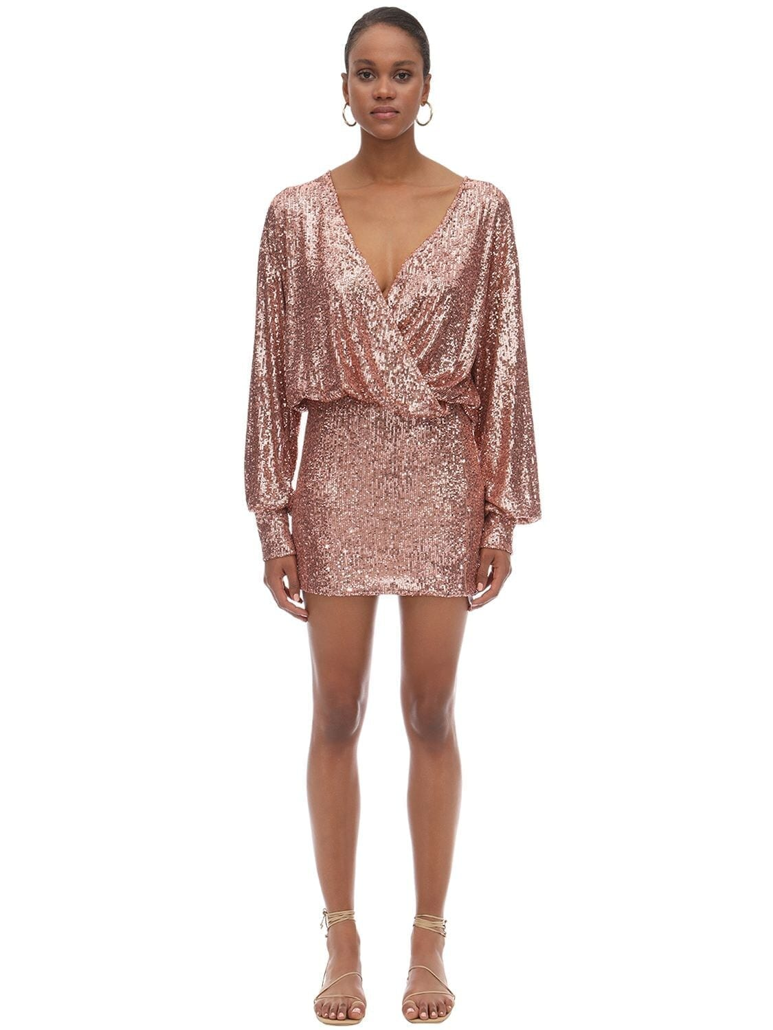 L'AUTRE CHOSE Sequined Stretch Mini Dress