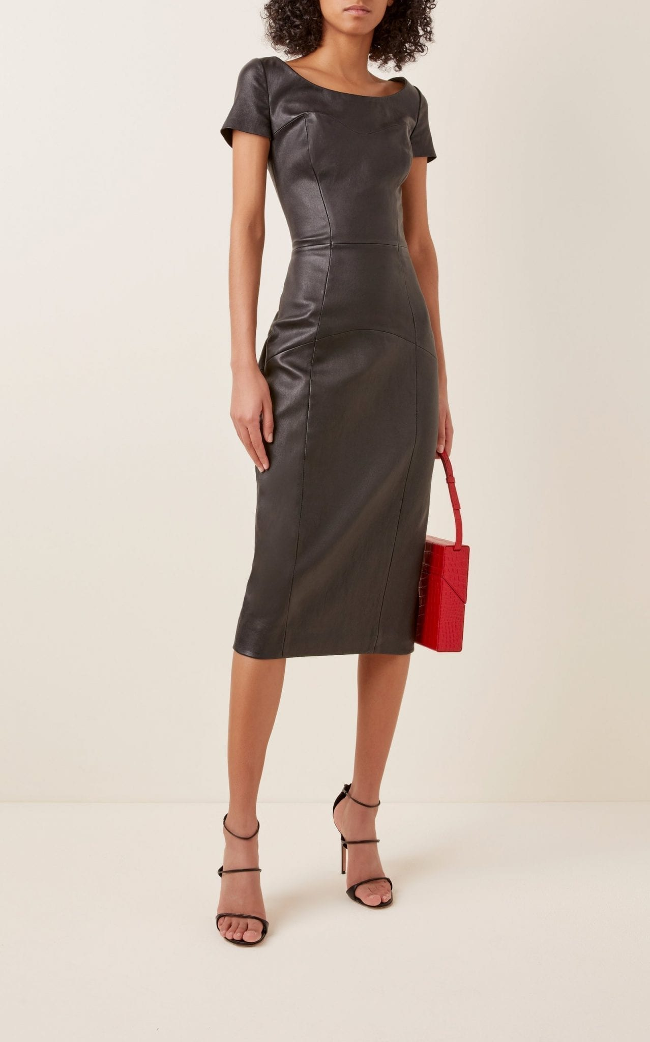 LENA HOSCHEK Pleasure Leather Midi Dress