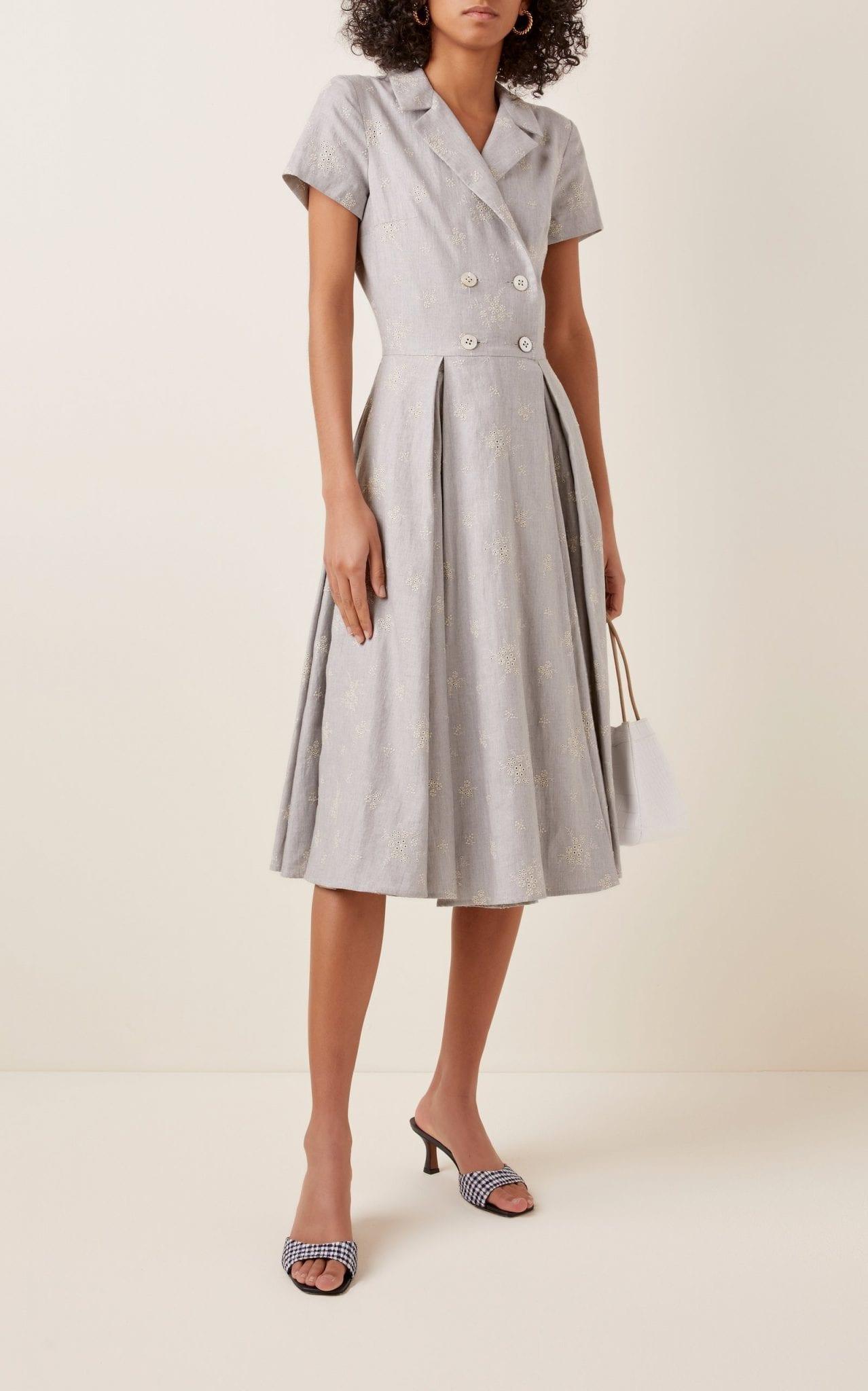 LENA HOSCHEK Triumph Belted Floral-Print Cotton Midi Dress